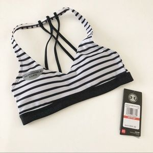 NWT! Under Armour Striped sports bra
